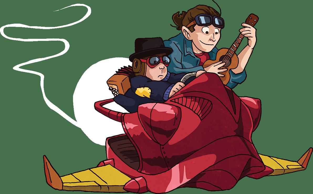 TiJo et GranJo vaisseau